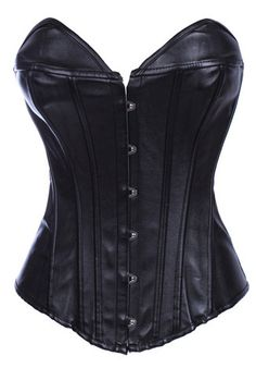 Burlesque Clothing | Black Leather Burlesque Corset dominatrix only $59.99