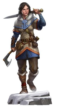 Arctic Fighter by Eric Belisle, great female warrior image even if her scabbard is on the wrong side