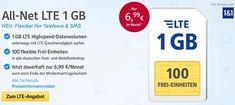1&1 Tarife ► bis zu 3GB Internet Flat ab 6,99€