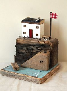 Driftwood Houses by TTassel on Etsy