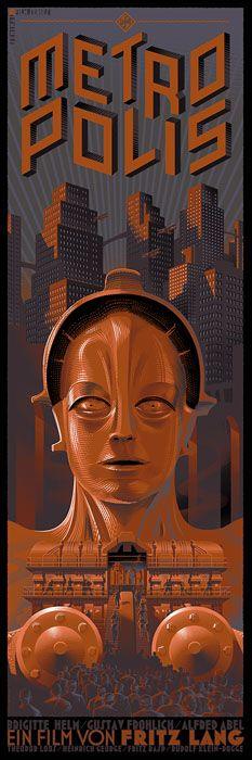 """Affiche originale Not Mondo """"metropolis"""" par Laurent Durieux (06/06/13) numérotée. Taille 12""""X 36"""". Regular 100exp/Variant 50 exemplaires au monde.@asgalerie #asgalerie #LaurentDurieux #metropolis."""