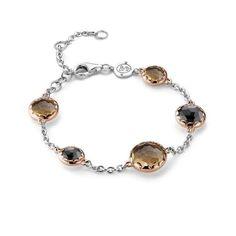 Ti Sento Bracelet 2767BR Sterling Silver, Rose Gold & CZ - £190.00 - Ti Sento Jewellery  #jewellery #bracelet #rosegold #tisento