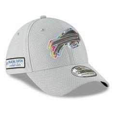 online retailer 1a55a a5d43 Buffalo Bills New Era Crucial Catch 39THIRTY Flex Hat – Gray. Nfl ...