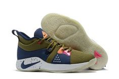 9f2d211df41b Original Nike PG 2 EP Paul George Olive Canvas Light Silver Watermelon Obsidian  AO2984 300 Men s