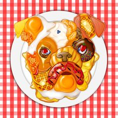 An illustration created via The Jacky Winter Group for Australian paper manufacturer K. Doggett's highly coveted calender for Each of the twelve selected illustrators was assigned a dog-related phrase in line with K. Portfolio Format, Dog Breakfast, Jacky Winter, Out Of Touch, Paper Artwork, Love Illustration, Print Artist, New Artists