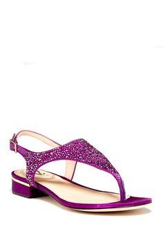 sparkly purple sandal