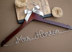 SALE Personalized Bridal Hanger / Wedding Hanger / by SimplyMai