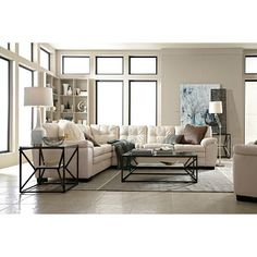 Legend Gray II Leather Collection - Value City Furniture Leather Living Room Furniture, New Furniture, Furniture Ideas, Furniture Shopping, Mirrored Furniture, Small Living Rooms, Living Room Sets, Living Room Essentials, Value City Furniture