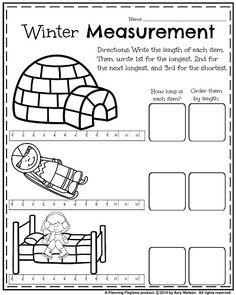 Check out these cute, Grade worksheets for January. Practice math, reading, and writing with these fun winter themes. Measurement Worksheets, Homeschool Worksheets, First Grade Worksheets, First Grade Activities, Phonics Worksheets, Kindergarten Worksheets, Homeschooling, First Grade Classroom, 1st Grade Math