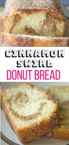 Personalized Graduation Gifts - Ideas To Pick Low Cost Graduation Offers Cinnamon Swirl Donut Bread Love Donuts? You Will Be All Over This Cinnamon Sugar-Coated Donut Bread This Easy Swirly Cinnamon Bread Recipe Is A Cakey Loaf Cake, Baked Until Moist And Breakfast Low Carb, Breakfast Bake, Sweet Breakfast, Breakfast Bread Recipes, Breakfast Buffet, Perfect Breakfast, New Year's Desserts, Cute Desserts, Delicious Desserts