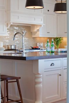 Glass Tile Backsplash, Transitional