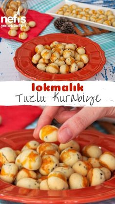 Lokmalık Tuzlu Kurabiye (Videolu) - Nefis Yemek Tarifleri - 6481624 - Tatlı - How to make a Lokmalik Salt Cookie (Video) Recipe? Illustrated explanation of this recipe in person's books and photographs of those who try it are here. Yummy Recipes, Vegan Recipes, Dessert Recipes, Yummy Food, Canned Blueberries, Vegan Scones, Gluten Free Flour Mix, Biscuits, Scones Ingredients
