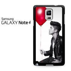 Bruno Mars Red Balloon Pose Samsung Galaxy Note 4 Case