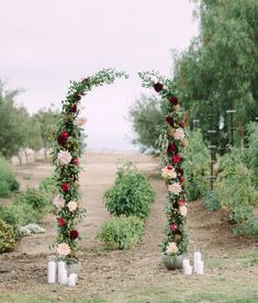 Fall Garden Inspiration - with a floral arch