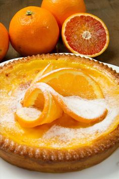 "Tarte à l'orange ""express""1 Tart Recipes, Sweet Recipes, Cooking Recipes, Sweet Pie, Sweet Tarts, No Cook Desserts, Dessert Recipes, French Sweets, Orange Dessert"