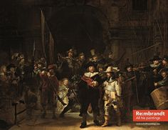 The original Night Watch by Rembrandt @ Magna Plaza Amsterdam (Re:mbrandt and all his paintings)