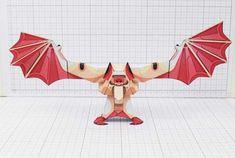 THU Man Bat Halloween Paper Toy Image Thumbnail