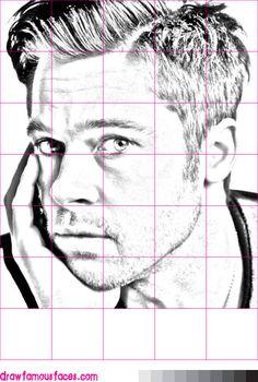 How to Draw Brad Pitt Using a Grid