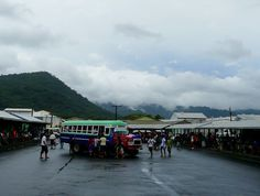 Bus Station, Apia, Western Samoa