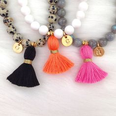 Add-on Initial Charm for Tassel Bracelets by LovesAffect on Etsy
