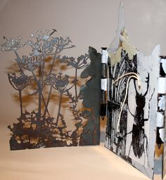 I seem to be getting the year off to a swift start and spent the last few days cutting and enamelling steel to make this concertina book ab. Concertina Book, Accordion Book, Kunstjournal Inspiration, Art Journal Inspiration, Artemis Art, Folded Book Art, Book Folding, Book Sculpture, Paper Sculptures