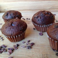 Gezonde chocolade cupcakes met bruine bonen
