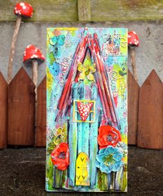 Scrapiniec inspirations on blogspot: Fairy Tale House made of old brushes by Sylwia
