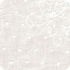 Plumetis rebrodée blanc by Cousette
