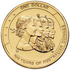 2010 $1 100 Year of Australian Coinage B Privy Mark