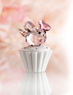 Swarovski Cupcake Box With Light Rose Mouse
