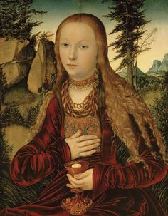 St. Barbara in a wooded landscape, c. 16th century by Lucas Cranach the Elder (1472–1553)