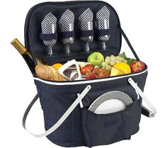 Picnic at Ascot Collapsible Insulated Picnic Basket for Four - FREE Shipping & Returns | Shoebuy.com