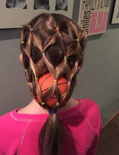 Academy of Scoring Basketball - Crazy Hair Day. More TSA Is a Complete Ball Handling, Shooting, And Finishing System! Crazy Hair For Kids, Crazy Hair Day At School, Crazy Hat Day, Crazy Hats, Crazy Crazy, Little Girl Hairstyles, Cute Hairstyles, Hairstyles Pictures, Carnaval Costume