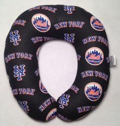 New York Mets Travel/Neck Pillow by AuntShellDesigns on Etsy