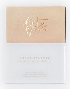 Fête & Company Business Card
