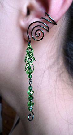 Druid Elven Ear Cuff Simple Swirl Elf Fantasy by alyssblackapparel, $25.00 Something pretty for all you forest fairies! :D