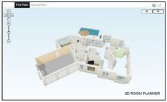 , The Blooming White Construction With From Three Dimension Room ...
