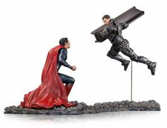 DC Collectibles Man of Steel Superman vs. Zod 1 Statue, Scale 12 by DC Collectibles Comic Book Superheroes, Dc Comic Books, Comic Book Heroes, Superman V, Superman Man Of Steel, Superman Stuff, Black Art Pictures, Hope Symbol, Gentle Giant
