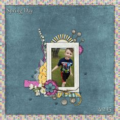 Made with Hello Spring by #AmandaCreation.  #thestudio #digitalscrapbooking