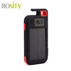 ROSITY Nuevo banco de la energía 20000 mah Cargador Portátil de batería Externa powerbank Cargador solar 2 USB función de titular de la CAJA de la Energía