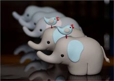 Baby-Elephant Shaped Fondant Figures