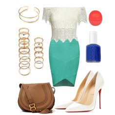 j'adore by souchi26 on Polyvore featuring polyvore fashion style Posh Girl Christian Louboutin Chloé Forever 21 River Island Essie