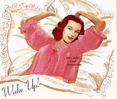 crochet bed sweater 1941 pattern - #vintage 1941 #crochet history