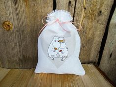 Valentines Gift bag Moomin Valentines Day Decor by Vivicreative, $6.00
