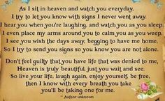 Watching you from Heaven
