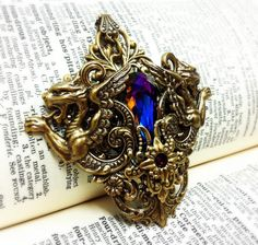 Handmade gothic filigree steampunk fantasy jewelry.  Valkyrie Couture