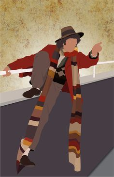 The 4th Doctor minimalist print. I adore 4! Definitely my second favorite Doctor.
