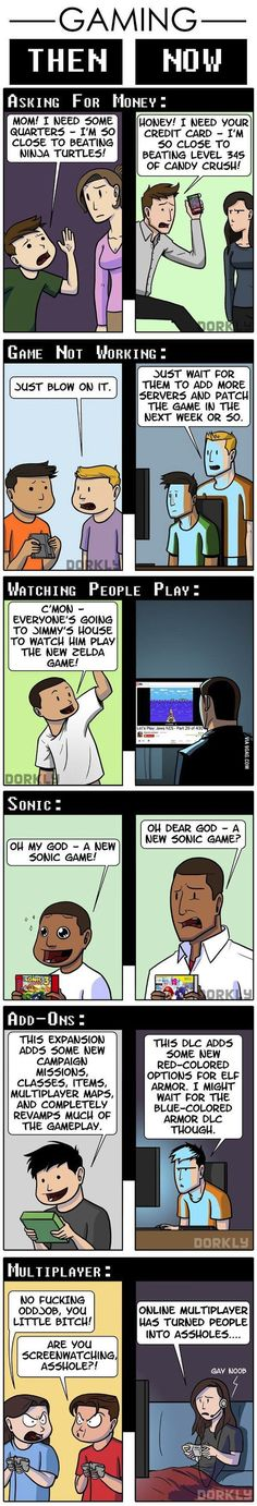 Video games, then and now...