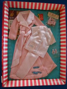 Remember these red and white edge boxes for our exciting NEW Barbie outfits ? Vintage Barbie Sleepytime Gal circa 1966-1967