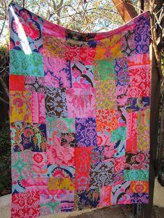 Crazy Love 40x56 Random Patchwork Minky Blanket by sewfunbymonique, $100.00